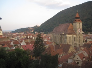 Brasov around sunset