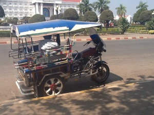Large tuk tuk in Vientiane