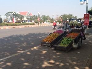 Fruit stand in Vientiane