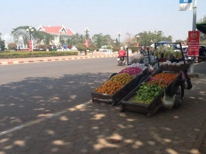 Fruit stand in Vientiane