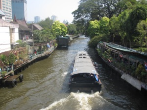 Canal boat in Siam
