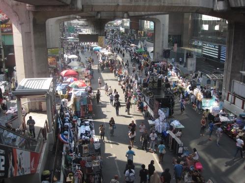 Siam sky train protest