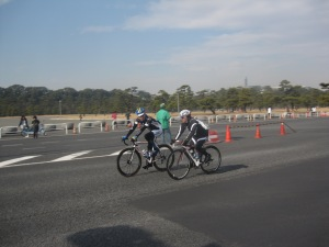 Riding bikes around the Imperial Palace