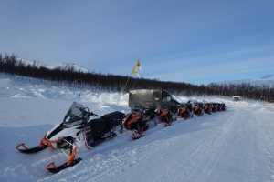 Snowmobiles in Bjorkliden