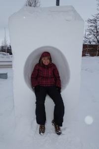In a park in Kiruna