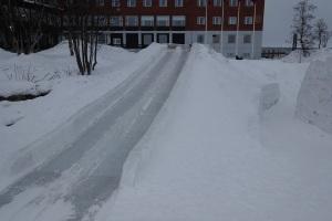 Ice slide!!