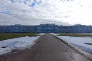 The back view of Catherine's Palace