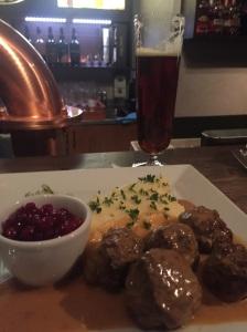 Dinner, Swedish meatballs