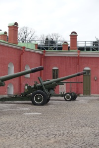 They fired the artillery piece on the wall, it was a blank, but it was really loud and made a ton of smoke