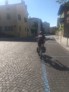 Cobble stones in Italy that would normally be my jam, not this morning :(