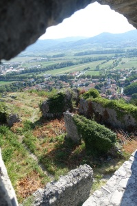 View from the ruined Vipava castle