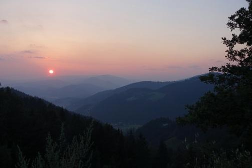 Sunset over Slovenj Gradec