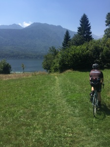 "Chris's mapped ""road"" to lake Bohinj"