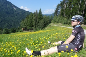 Chris relaxing in Austria post pass