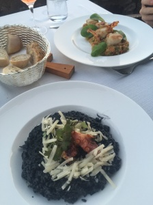 Black risotto with squid
